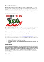 YouTube Views To Increase Video Visibility