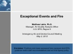 Exceptional Events and Fire