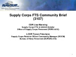 Supply  Corps FTS Community Brief (3107) CDR  Lisa Manning Supply Corps  FTS &  GSA/IA Detailer
