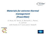 Materials for extreme thermal management ( PowerMat )