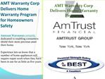 AMT Warranty Corp Delivers Home Warranty Program for Homeown