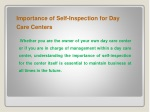 Importance of Self-Inspection for Day CareCenters