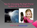 Tips for Choosing Right Phone System for Your Business