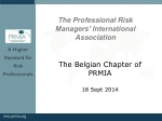 The Belgian Chapter of PRMIA 18 Sept 2014
