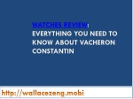 Everything you need to know about vacheron constantin