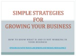 Simple Strategies for Growing Your Business