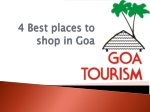 4 Best places to shop in Goa