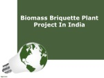 Biomass Briquette Plant Project In India