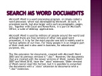 Search MS Word documents - Search text in files