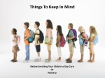 Things To Keep In Mind Before Enrolling Your Child In A Nurs
