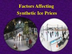 Factors Affecting Synthetic Ice Prices