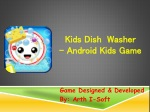 Kids Dish Washer - Android Kids Game