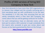 Profits of SEO services of hiring SEO Company in New York