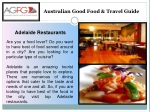 Taste the Delicious Dining In Adelaide Restaurants