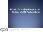 SWOT Analysis Review on Baldwin Technology Company, Inc.
