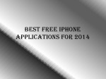 Best Free iPhone Applications For 2014