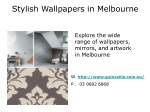 Stylish Removable Wallpaper For Homes in Melbourne