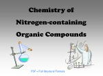 Chemistry of Nitrogen-containing Organic Compounds
