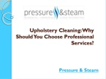 Upholstery Cleaning: Why Should You Choose Professional Serv
