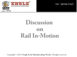 Rail in motion weighbridge manufacturer, exporter, South Afr