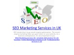 SEO Marketing Services in UK