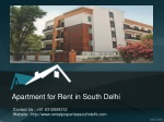 Apartments for Rent in South Delhi