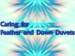 Caring for Feather and Down Duvets