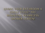 Giving Your Bathroom A Great Style? Try Mounting Frameless S