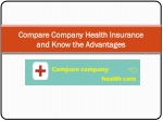 Compare Company Health Insurance and Know the Advantages