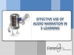 Effective Use of Audio Narration in eLearning