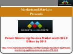 Patient Monitoring Devices Market Research Report.