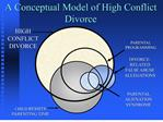 a conceptual model of high conflict divorce