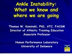 ankle instability: what we know and where we are going