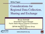 Considerations for Regional Data Collection, Sharing and Exchange