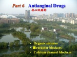 Part 6 Antianginal Drugs 抗心绞痛药
