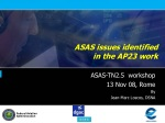 ASAS issues identified in the AP23 work