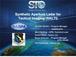 synthetic aperture ladar for tactical imaging salti
