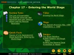 Chapter 17 – Entering the World Stage