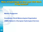 Role of hydrology in the next CIS Work Programme?