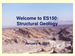 Welcome to ES150: Structural Geology