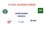 A LEVEL BUSINESS (9BS0)