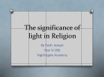 The significance of light in Religion