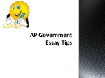 AP Government Essay Tips
