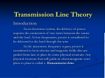 Transmission Line Theory