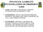 FINANCIAL LIABILITY INVESTIGATION OF PROPERTY LOSS