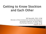 Getting to Know Stockton and Each Other