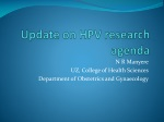 Update on HPV research agenda