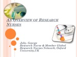 An Overview of Research Nurses