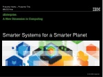 Smarter Systems for a Smarter Planet