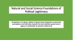 Natural and Social Science Foundations of Political Legitimacy